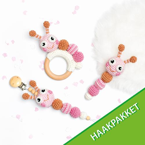 Rups Baby Accessoires Haakpakket - Roze