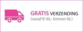 Gratis verzending vanaf 40 euro binnen Nederland